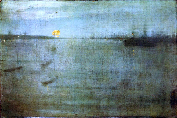 James McNeill Whistler Nocturne: Blue and Gold - Southampton Water - Canvas Art Print