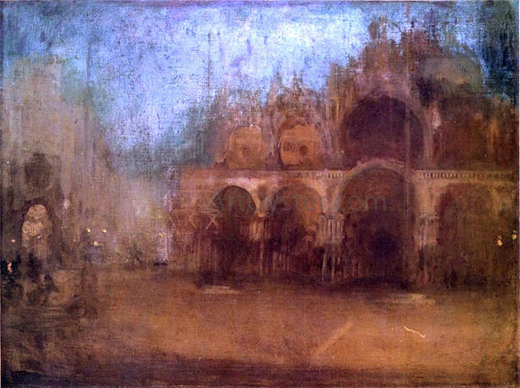 James McNeill Whistler Nocturne: Blue and Gold - St Mark's, Venice - Canvas Art Print