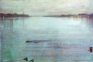James McNeill Whistler Nocturne: Blue and Silver - Cremorne Lights - Canvas Art Print