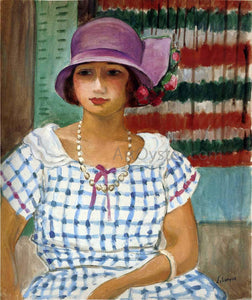 Henri Lebasque Nono in a Pink Hat - Canvas Art Print