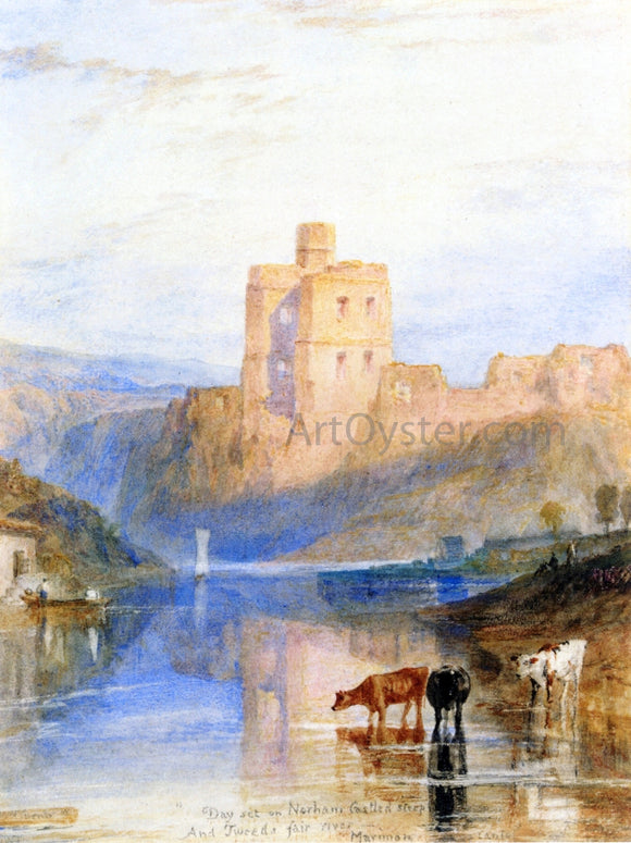 Joseph William Turner Norham Castle on the Tweed - Canvas Art Print