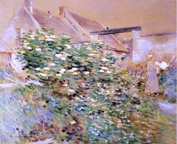 Theodore Robinson Normandy Farm, A Characteristic Bit, Givernyy - Canvas Art Print