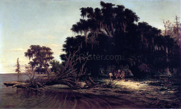 Richard Clague North Shore of Lake Pontchartrain at Mandeville - Canvas Art Print
