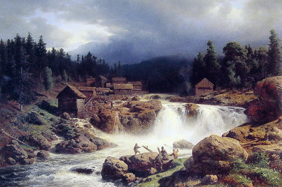 Herman Herzog Norwegian Landscape - Canvas Art Print