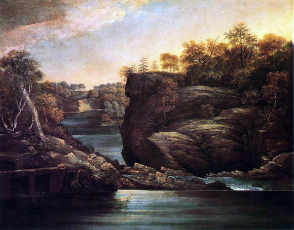 John Trumbull Norwich Falls (also known as The Falls of the Yantic at Norwich) - Canvas Art Print