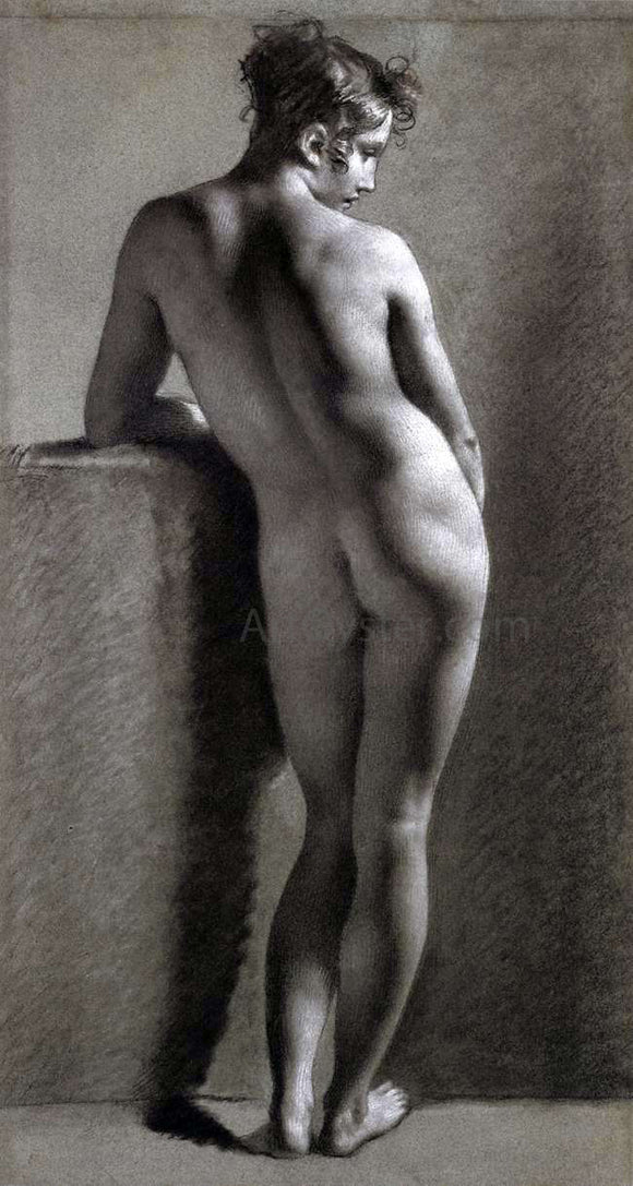 Pierre Paul Prudhon A Nude Viewed from Behind - Canvas Art Print