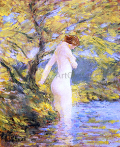 Frederick Childe Hassam A Nymph Bathing - Canvas Art Print