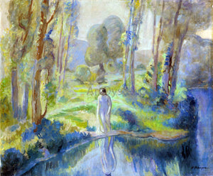 Henri Lebasque Nymph by the lake - Canvas Art Print