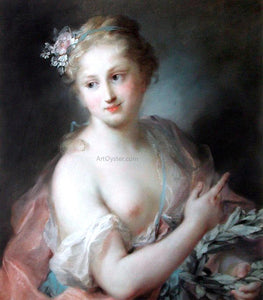 Rosalba Carriera Nymph from Apollo's Retinue - Canvas Art Print