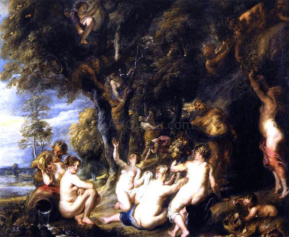Peter Paul Rubens Nymphs and Satyrs - Canvas Art Print