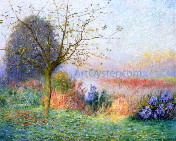 Emile Claus October Morning on the River Leie - Canvas Art Print