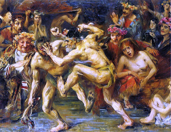 Lovis Corinth Odysseus Fighting with the Beggar - Canvas Art Print