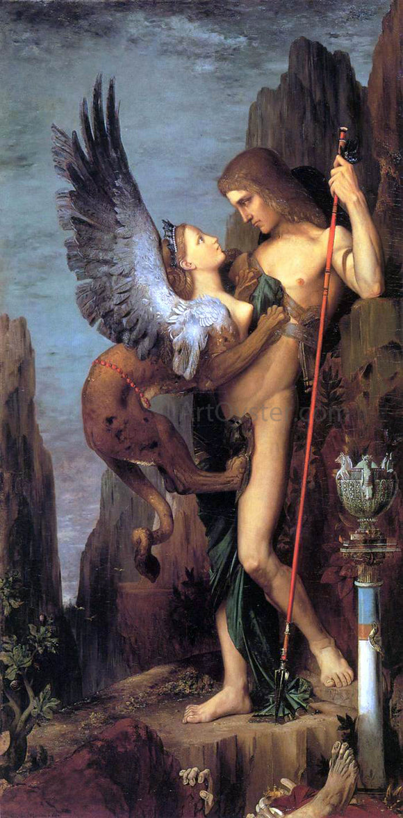 Gustave Moreau Oedipus and the Sphinx - Canvas Art Print