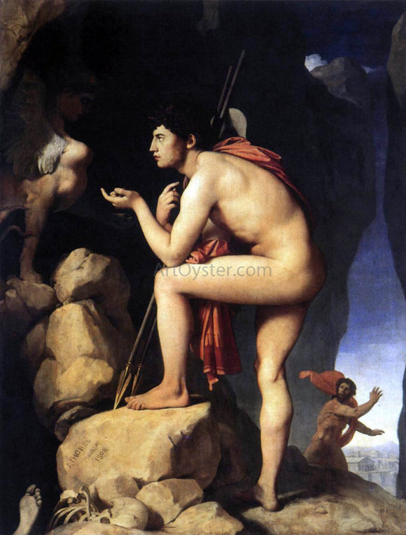 Jean-Auguste-Dominique Ingres Oedipus and the Sphynx - Canvas Art Print