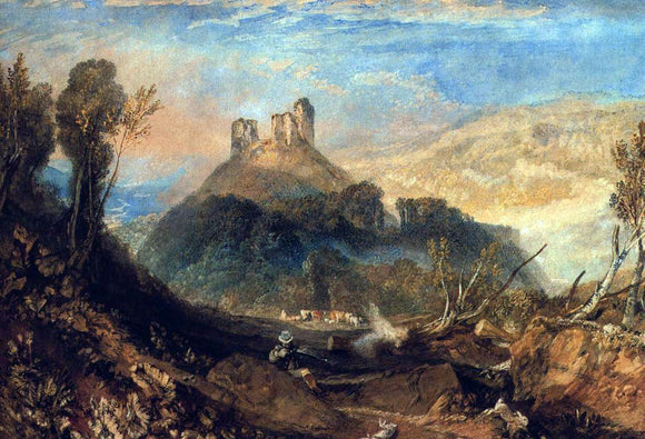 Joseph William Turner Okehampton - Canvas Art Print