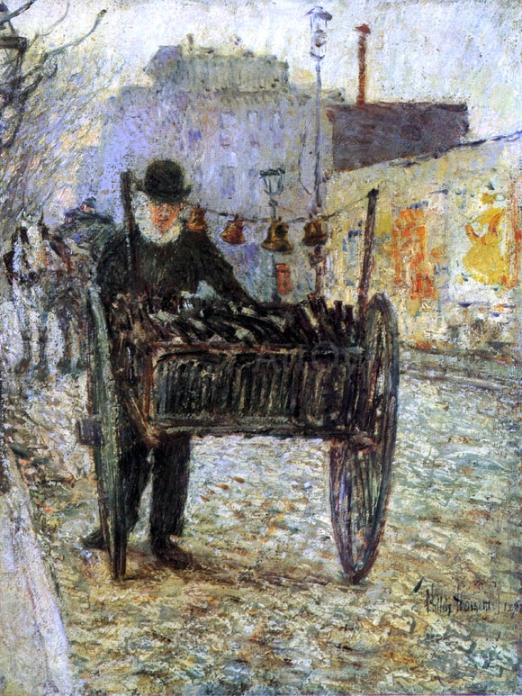 Frederick Childe Hassam Old Bottle Man - Canvas Art Print