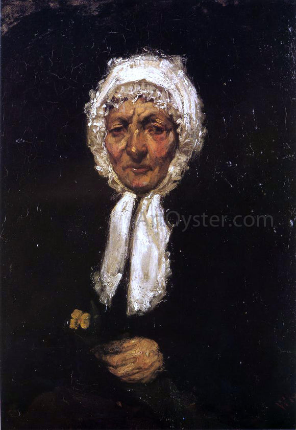 James McNeill Whistler Old Mother Gerard - Canvas Art Print