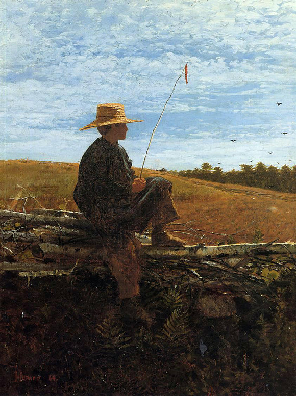 Winslow Homer On Guard - Canvas Art Print