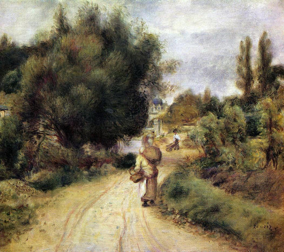 Pierre Auguste Renoir On the Banks of the River - Canvas Art Print