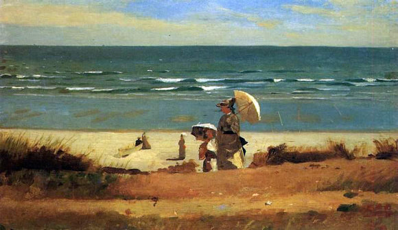 Winslow Homer On the Beach, Marshfield - Canvas Art Print