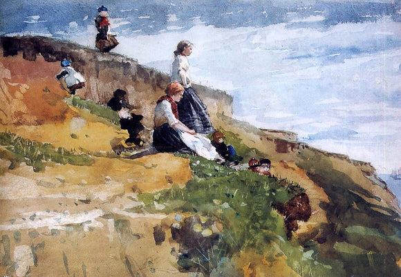 Winslow Homer On the Cliff - Canvas Art Print
