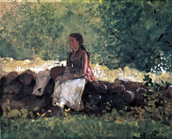 Winslow Homer On the Fence - Canvas Art Print