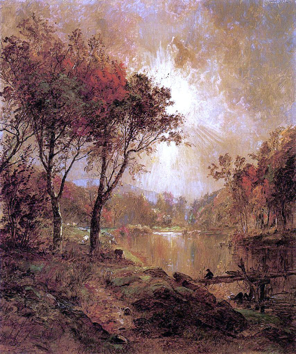 Jasper Francis Cropsey On the Ramapo River - Canvas Art Print