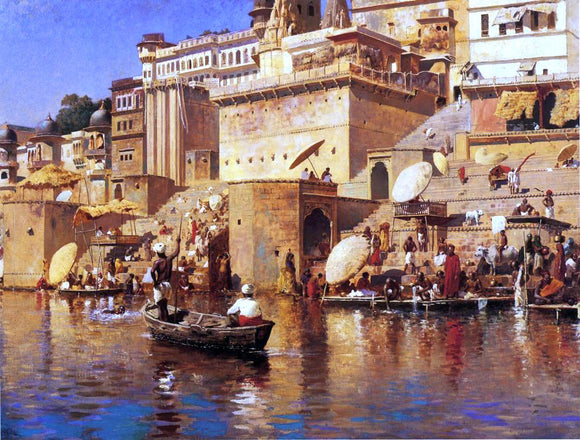 Edwin Lord Weeks On the River Benares - Canvas Art Print