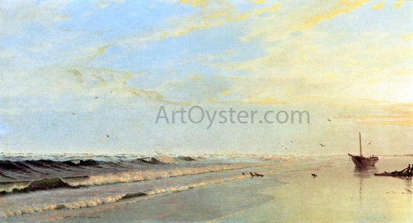 William Trost Richards On the Shore - Canvas Art Print