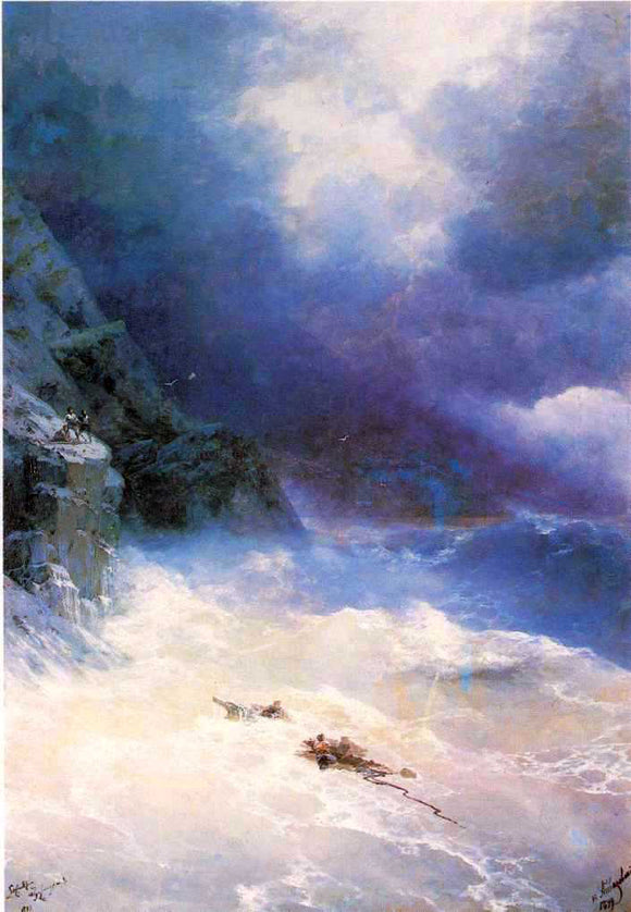 Ivan Constantinovich Aivazovsky On the Storm - Canvas Art Print