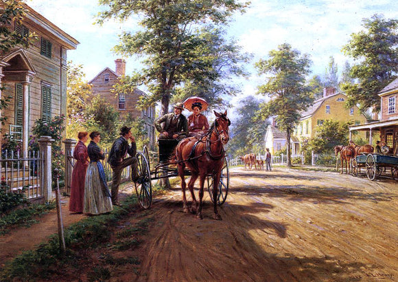 Edward Lamson Henry One Sunday Afternoon - Canvas Art Print