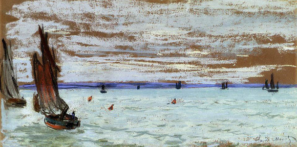 Claude Oscar Monet Open Sea - Canvas Art Print