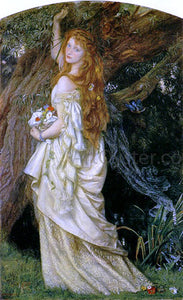 "Arthur Hughes Ophelia (""And will he not come again?"") - Canvas Art Print"