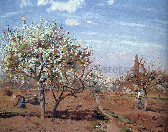 Camille Pissarro Orchard in Bloom at Louveciennes - Canvas Art Print