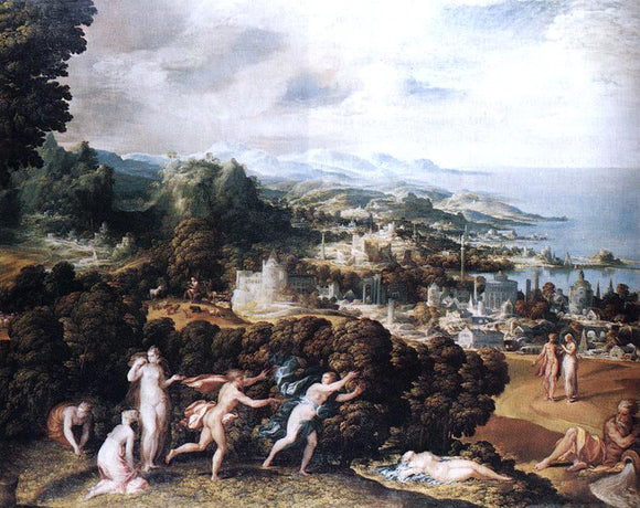 Niccolo Dell'Abbate Orpheus and Eurydice - Canvas Art Print
