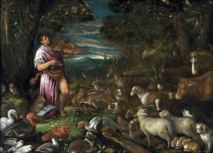 Francesco Bassano Orpheus Charming the Animals - Canvas Art Print