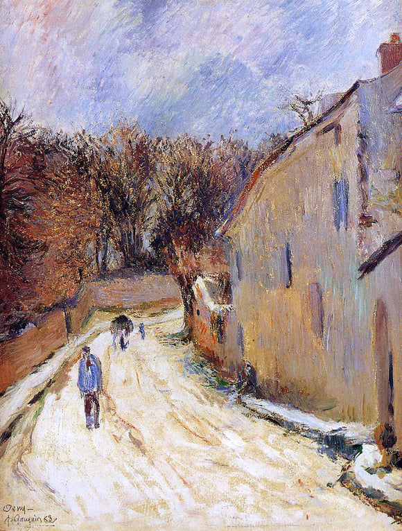 Paul Gauguin Osny, rue de Pontoise, Winter - Canvas Art Print