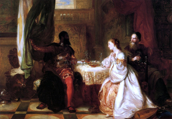 Robert Alexander Hillingford Othello Recounting His Adventures to Desdemona - Canvas Art Print