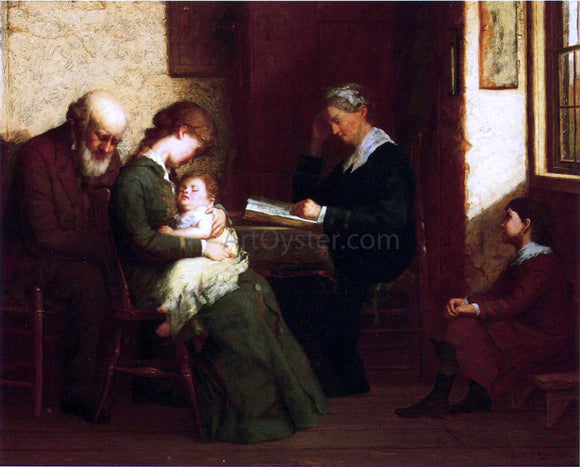 George Henry Story Our Father Who Art in Heaven - Canvas Art Print