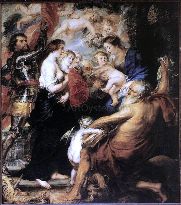 Peter Paul Rubens Our Lady with the Saints - Canvas Art Print