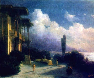 Ivan Constantinovich Aivazovsky Outskirts of Valley at Night - Canvas Art Print