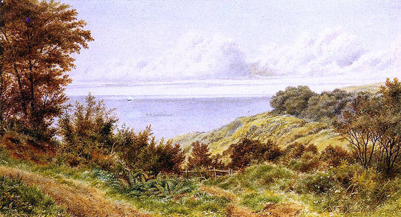 William Trost Richards Overlooking the Coast - Canvas Art Print
