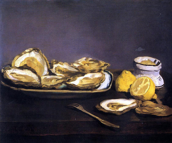 Edouard Manet Oysters - Canvas Art Print