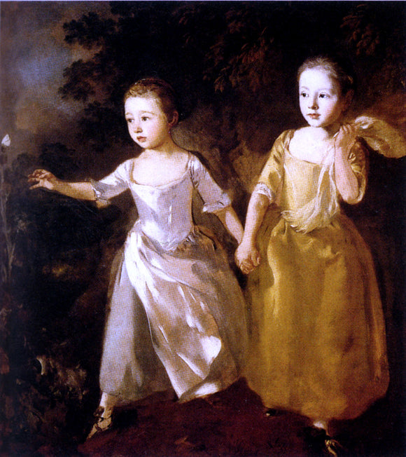 Thomas Gainsborough Painter's Daughters - Canvas Art Print