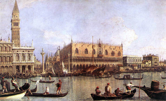 Canaletto Palazzo Ducale and the Piazza di San Marco - Canvas Art Print