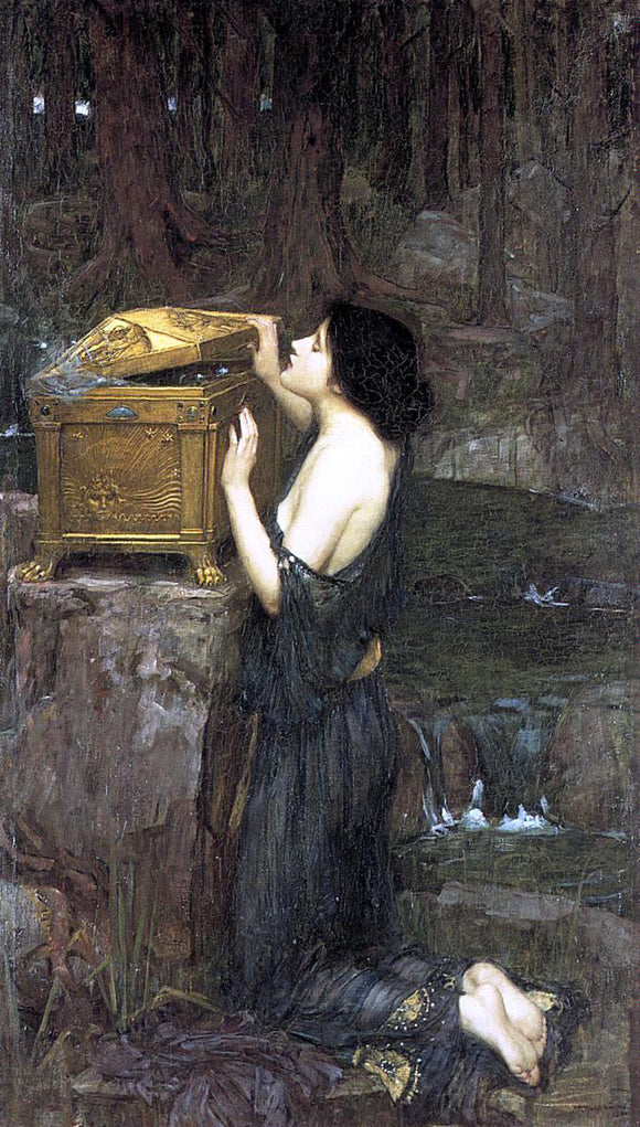 John William Waterhouse Pandora - Canvas Art Print