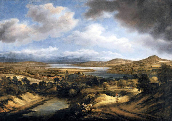 Philips Koninck Panoramic River Landscape - Canvas Art Print