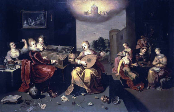 II Hieronymus Francken Parable of the Wise and Foolish Virgins - Canvas Art Print