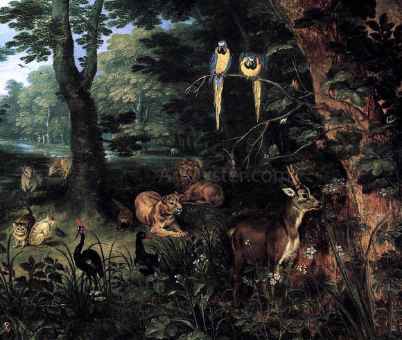 The Younger Jan Brueghel Paradise (detail) - Canvas Art Print