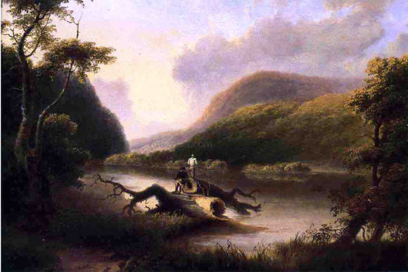 Thomas Doughty Passage of the Delaware Through the Blue Mountain - Canvas Art Print